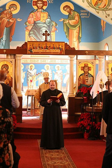 Rdr Nicholas Muzekari reads on Ordination day